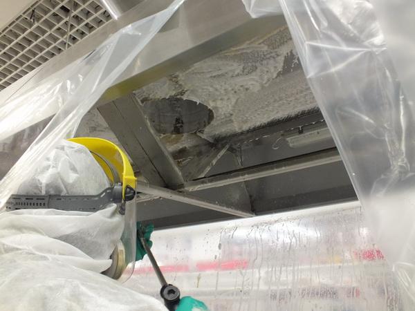 Очистка воздуховодов от жировых отложений