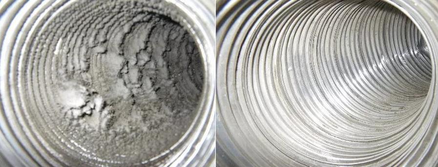 Чистка вентиляционных систем в здании до и после